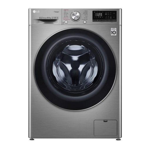 LG 8.5 Kg Front Load Washing Machine, Stainless Silver - F2V5GYP2T