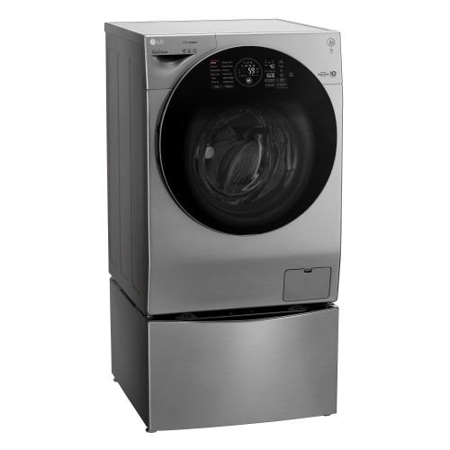 LG TWINWash™, Washer & Dryer, 12 / 7 Kg - FH4G1JCHP6N_F8K5XNK4 with free LG Hand Stick Vacuum Cleaner worth AED 1049