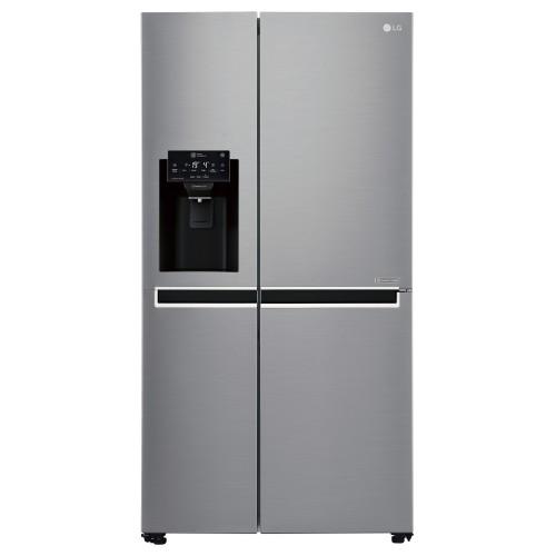 LG Side by Side Refrigerator, Platinum Silver, Inverter Linear Compressor - GR-L247SLKV